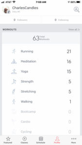 Peloton app activity summary