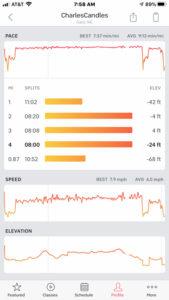 Peloton app mile split summary run