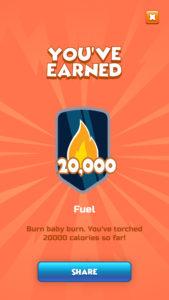 Torch running app screen shot