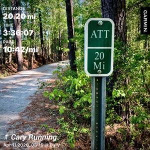 American Tobacco Trail garmin distance