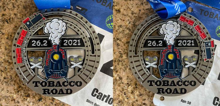 medal Tobacco marathon