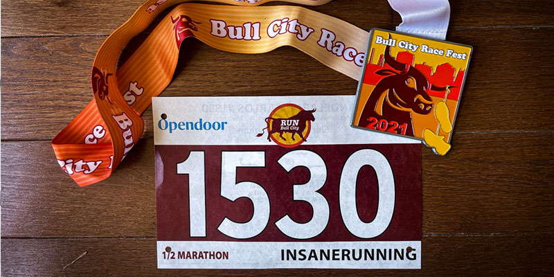 Bull City Half Bib and Medal